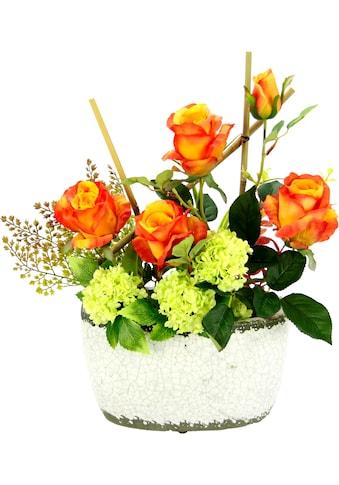 I.GE.A. Kunstpflanze »Rosen/Schneeball« (1 Stück) kaufen
