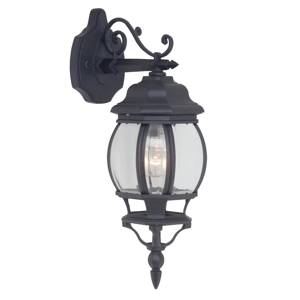 Brilliant Leuchten LED Außen-Wandleuchte, E27, Istria Außenwandleuchte hängend schwarz
