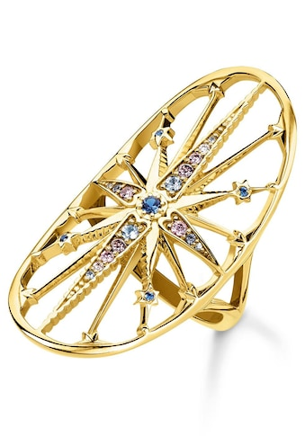 THOMAS SABO Fingerring »Royalty Stern gold, TR2223 - 959 - 7 - 50, 52, 54, 56, 58, 60« kaufen