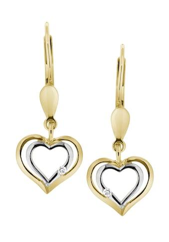 Firetti Paar Ohrhänger »Herz«, mit Brillanten kaufen
