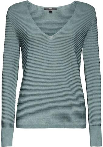 Esprit Collection V-Ausschnitt-Pullover, hinten länger kaufen