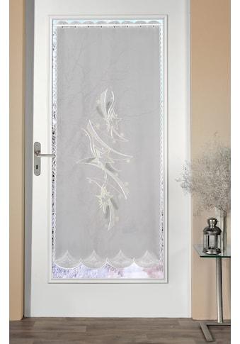Stickereien Plauen Türvorhang »Türstores Sterne«, HxB: 158x66, veredelt mit echter Plauener Spitze Stickerei kaufen