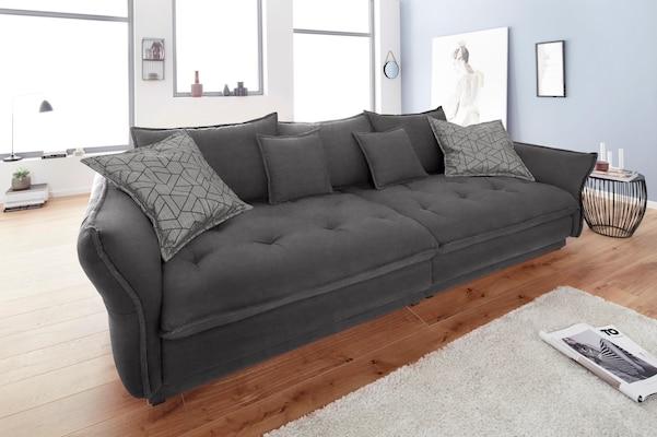 Big-Sofa in Dunkelgrau