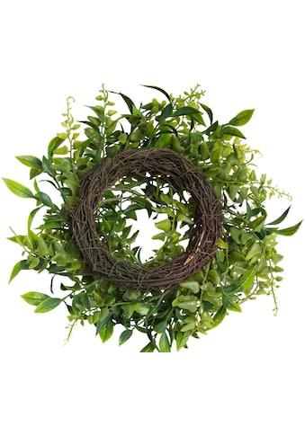 Botanic-Haus Kunstkranz »Grünblätter Kranz« kaufen