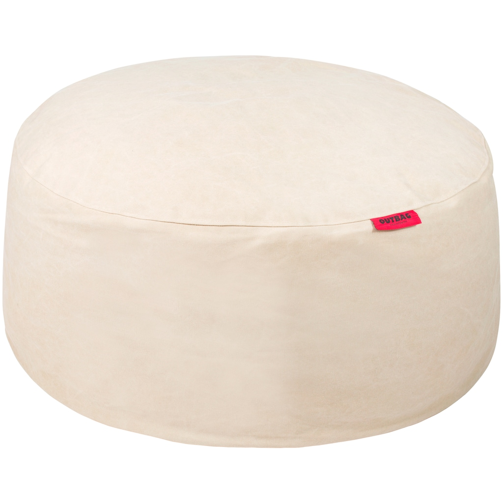 OUTBAG Sitzsack »Cake Canvas washed«, wetterfest, für den Außenbereich, Ø: 115 cm
