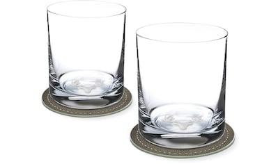 Contento Whiskyglas, (Set, 4 tlg., 2 Whiskygläser und 2 Untersetzer), Hirsch, 400 ml,... kaufen