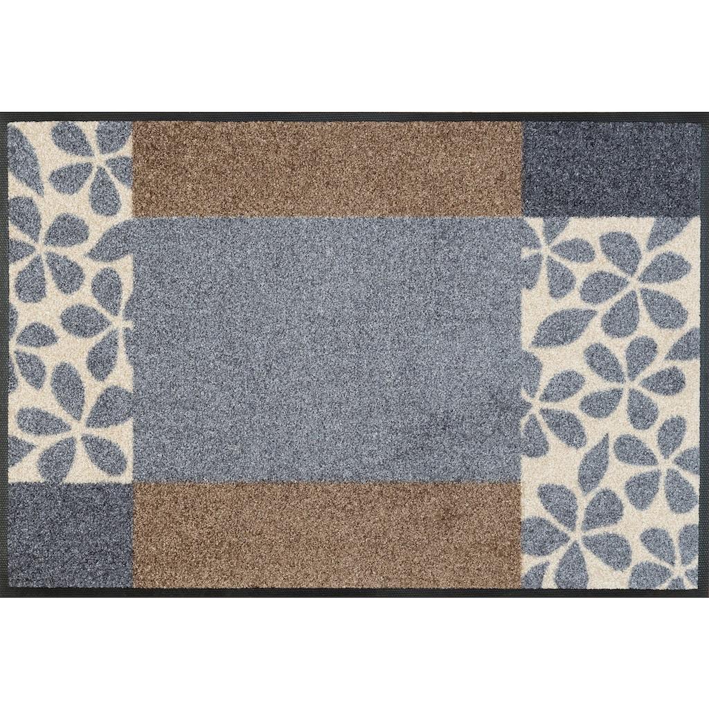 wash+dry by Kleen-Tex Fußmatte »Florita«, rechteckig, 7 mm Höhe, Schmutzfangmatte, In- und Outdoor geeignet, waschbar