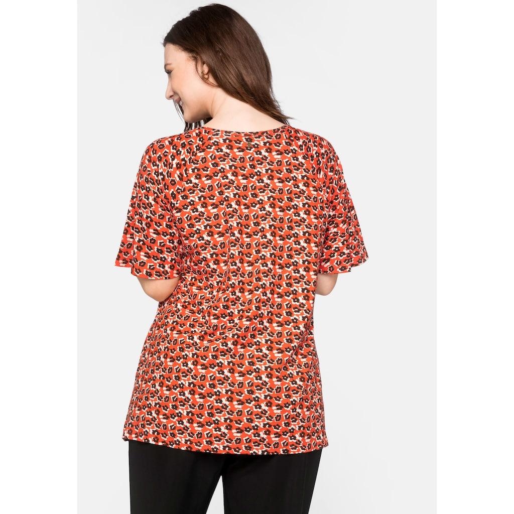 Sheego T-Shirt, in figurschmeichelnder Passform