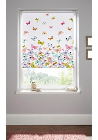 Home affaire Seitenzugrollo »Butterfly«, verdunkelnd, energiesparend, ohne Bohren,... kaufen