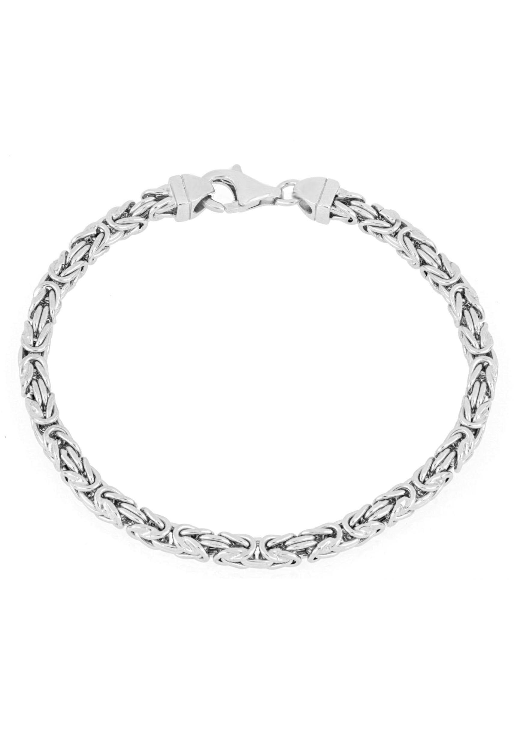 Firetti Königsarmband »4,0 mm breit, diamantiert, quadratisch« | Schmuck > Armbänder > Königsarmbänder | Firetti