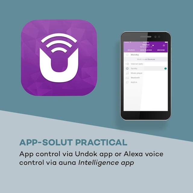 Auna 2.1-Internetradio DAB/DAB+/PLL-UKW BT »Connect 150 SE«