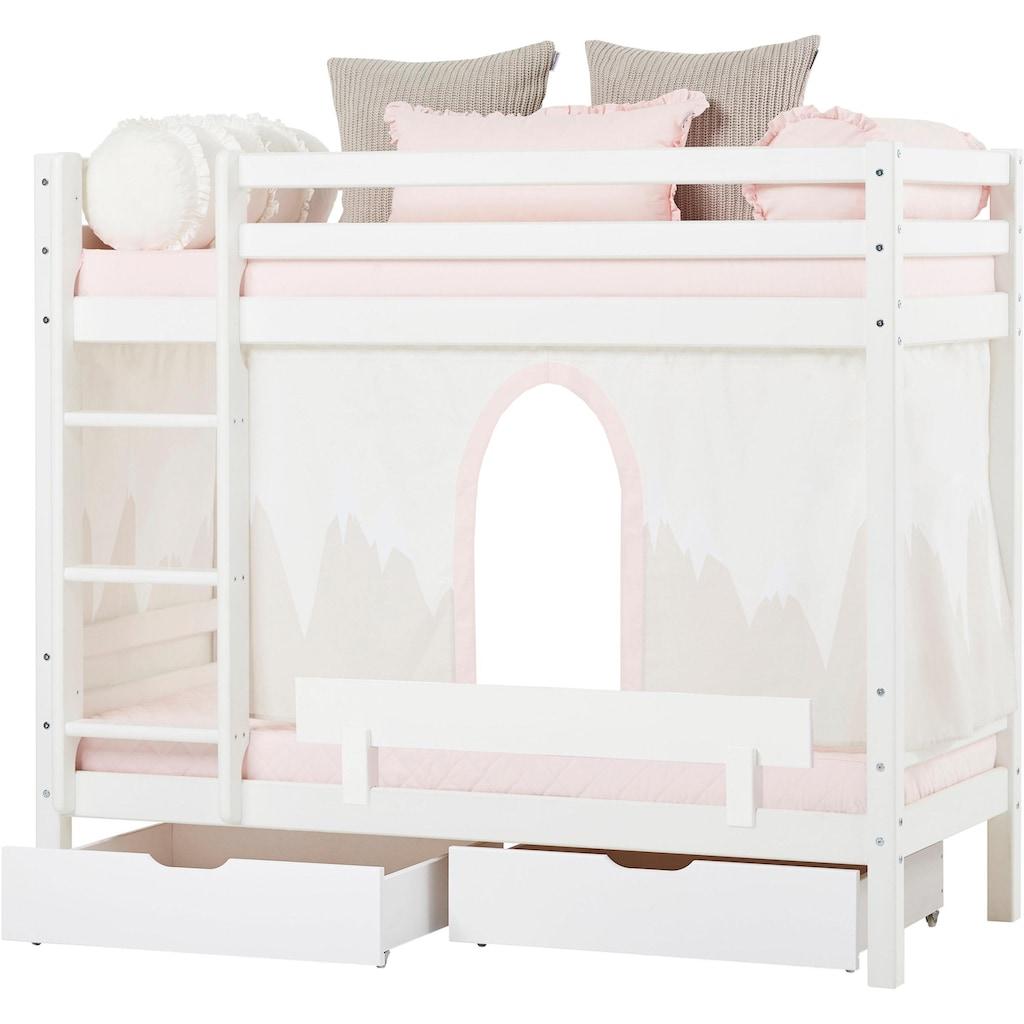 Hoppekids Etagenbett »Winter Wonderland«, (Set, 4 tlg., Bett, Vorhang und zwei Matratzen)