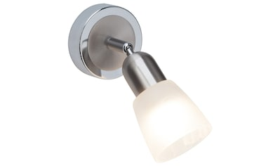 Brilliant Leuchten Bethany LED Wandspot eisen/chrom/weiß-alabaster kaufen