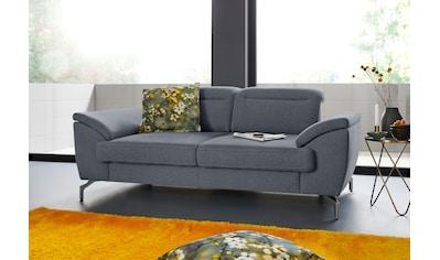 sit&more 2-Sitzer, 15 cm Fußhöhe, inklusive Sitztiefenverstellung, wahlweise Kopfteilverstellung, wahlweise in 2 unterschiedlichen Fußfarben kaufen