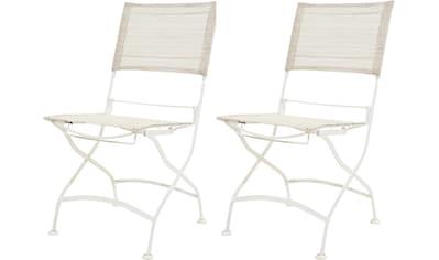 Ploß Gartenstuhl »Rom«, 2er Set, klappbar, pulverbeschichtetes Eisen/Textil kaufen