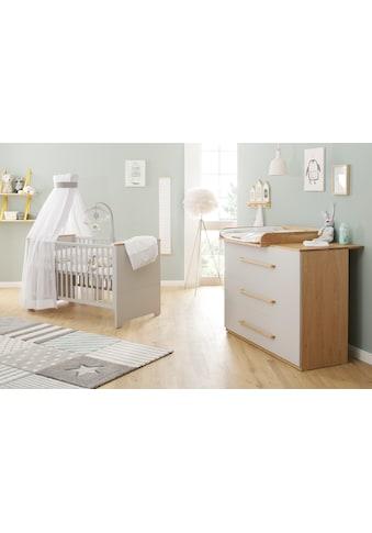 Babymöbel - Set »Tristan, grau/eiche« (Spar - Set, 2 - tlg) kaufen