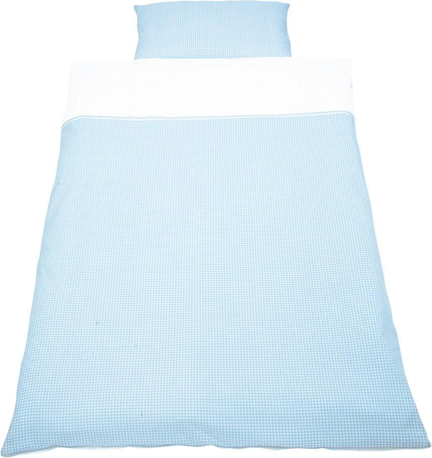 Babybettwäsche »Vichy-Karo«, Pinolino® | Kinderzimmer > Textilien für Kinder > Kinderbettwäsche | Blau | Baumwolle - Ab | PINOLINO