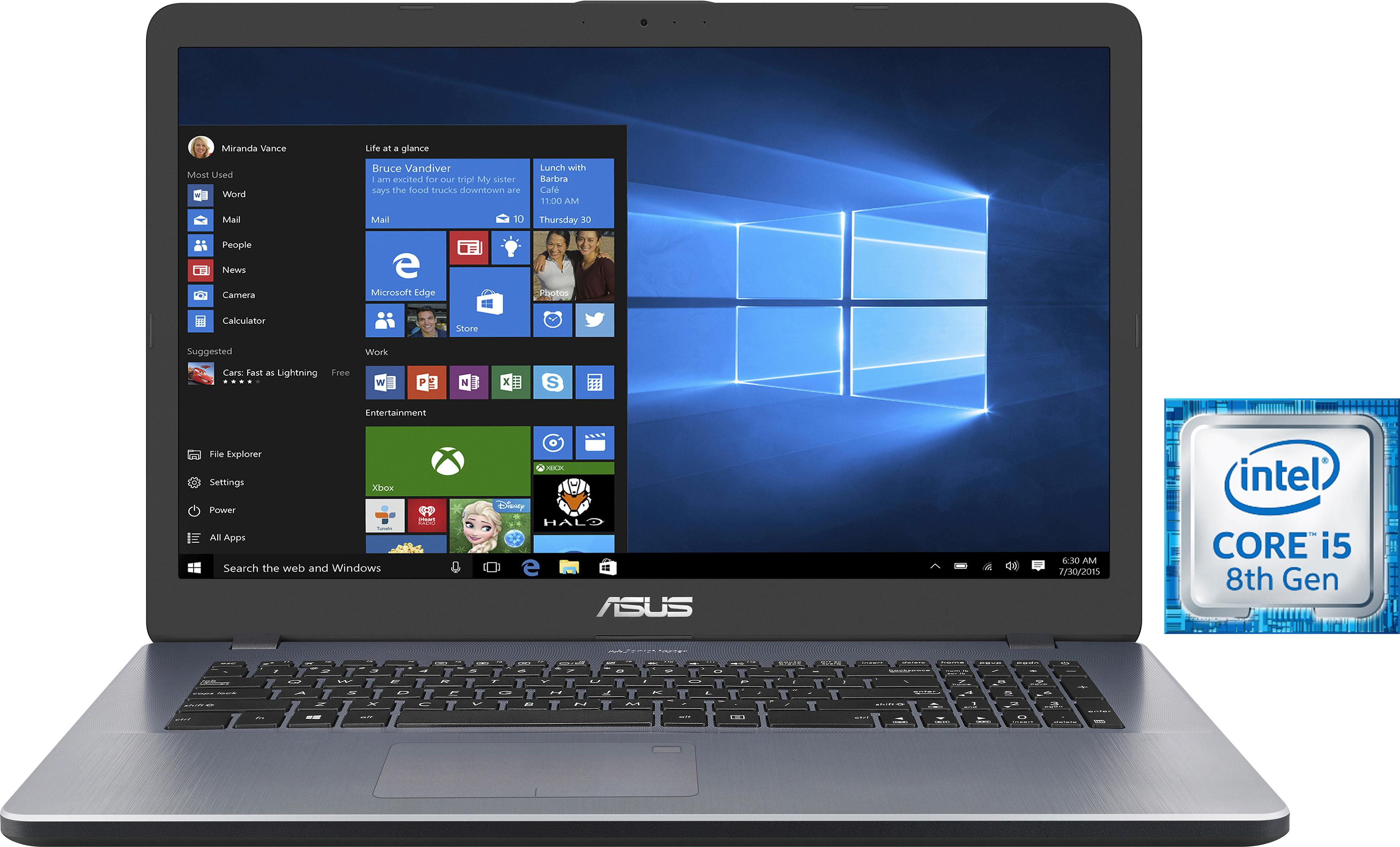 Asus N705UD-GC231T Notebook (43,94 cm / 17,3 Zoll, Intel, Core i5, 1000 GB HDD, 512 GB SSD)