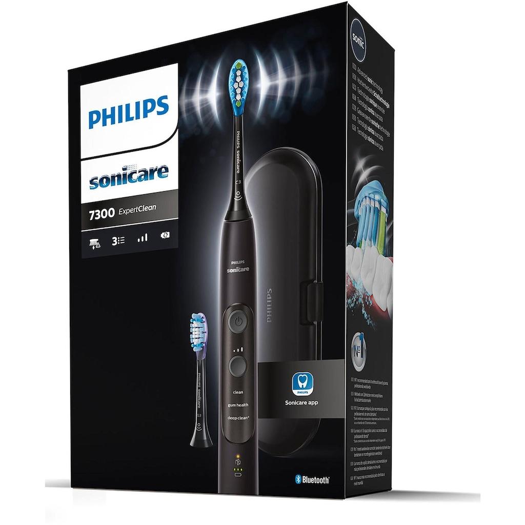 Philips Sonicare Elektrische Zahnbürste »ExpertClean 7300 HX9601/02«, 2 St. Aufsteckbürsten, mit Schalltechnologie