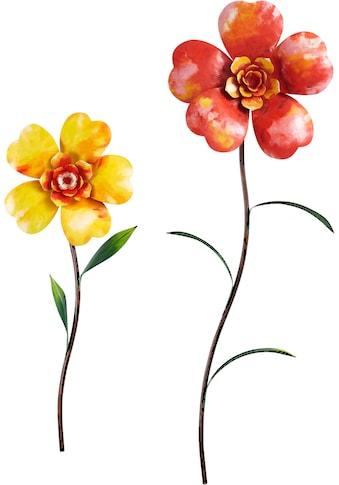 Home affaire Wanddekoobjekt »Flower« (2er - Set) kaufen