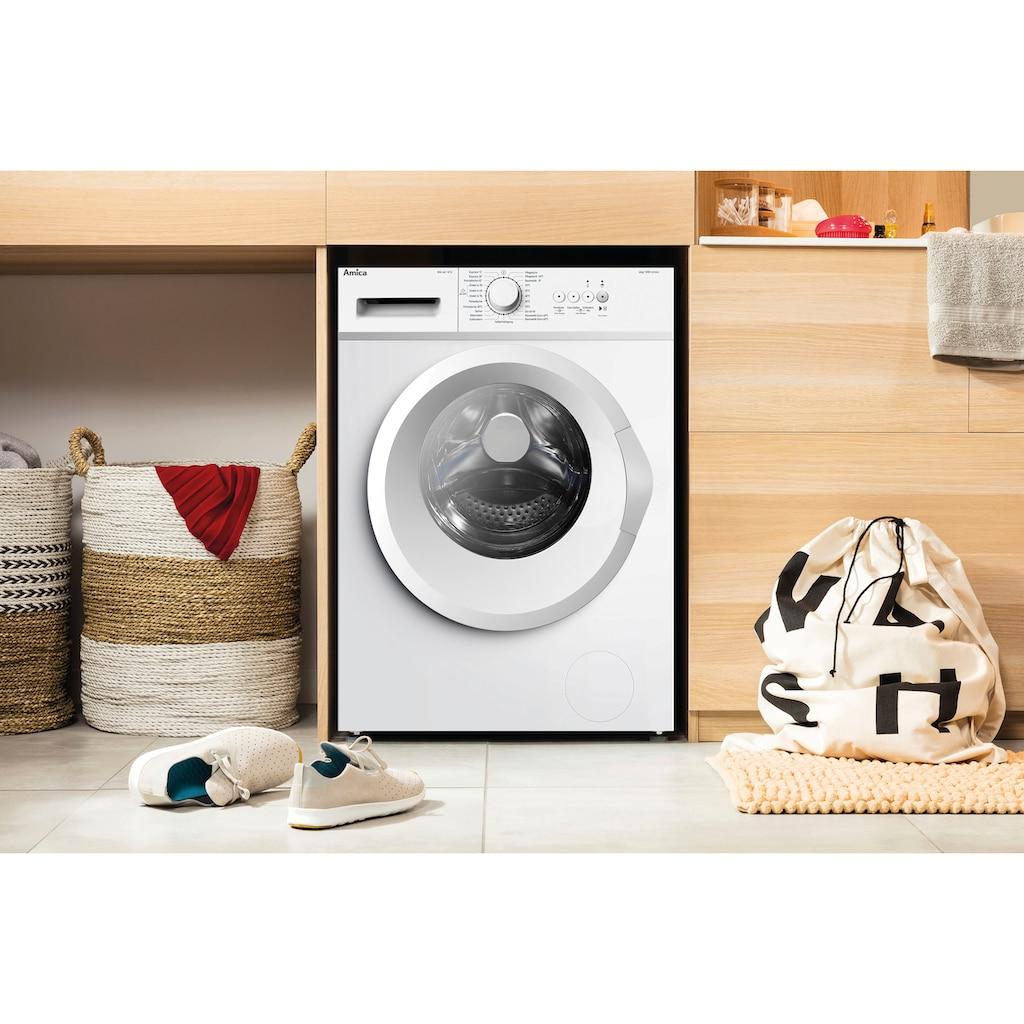 Amica Waschmaschine »WA 461 015«, WA 461 015 W, 6 kg, 1000 U/min