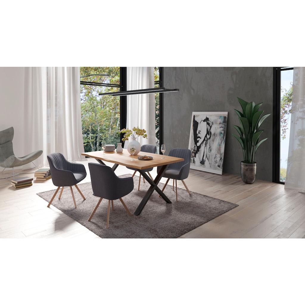 Homexperts Esszimmerstuhl »Carlo«, (2 Stück), mit Drehfunktion und Bezug in Webstoff