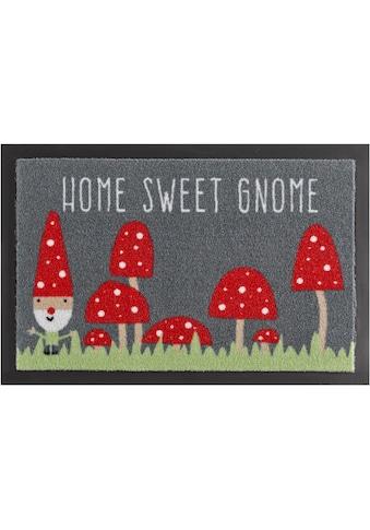 HANSE Home Fußmatte »Home Sweet Gnome«, rechteckig, 7 mm Höhe, Schmutzfangmatte, mit... kaufen