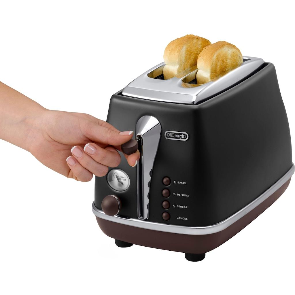 De'Longhi Toaster »CTOV 2003.BK«, 2 kurze Schlitze, 900 W