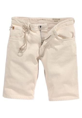 TOM TAILOR Denim Jeansshorts, mit Zierband kaufen