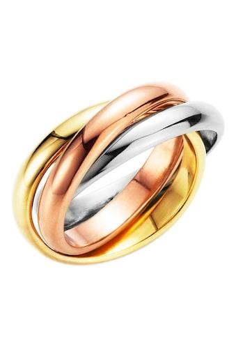 Firetti Fingerring »3 - fach verschlungen, tricolor« kaufen
