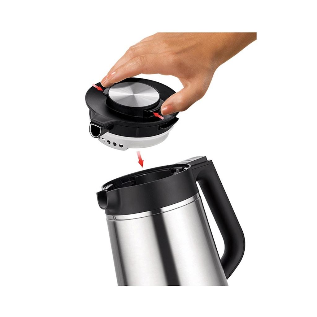 Unold Wasserkocher »BLITZKOCHER Thermo«, 1.5 l, 2200 W, Kabelloser, 1,5 Liter, Cool-Touch-Technik