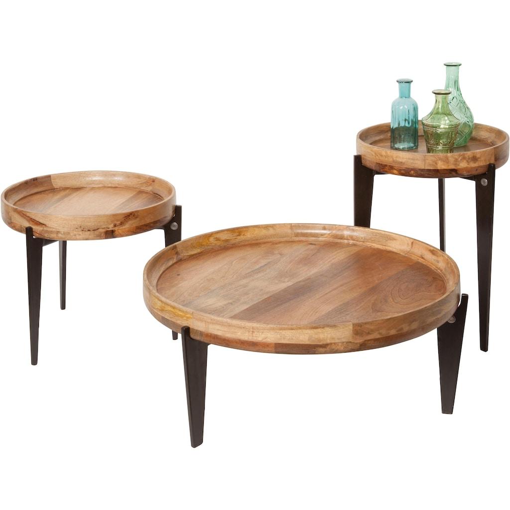 TOM TAILOR Beistelltisch »T-TRAY TABLE HIGH«, mit Tablett, rund, ø 40 cm
