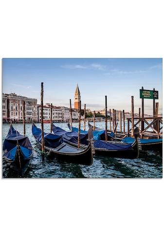 Artland Glasbild »Venedig Canal Grande mit Gondeln«, Boote & Schiffe, (1 St.) kaufen