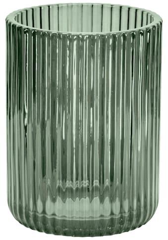 Kleine Wolke Zahnputzbecher »Antoinette«, Accessoire Serie aus Glas mit geriffelter... kaufen
