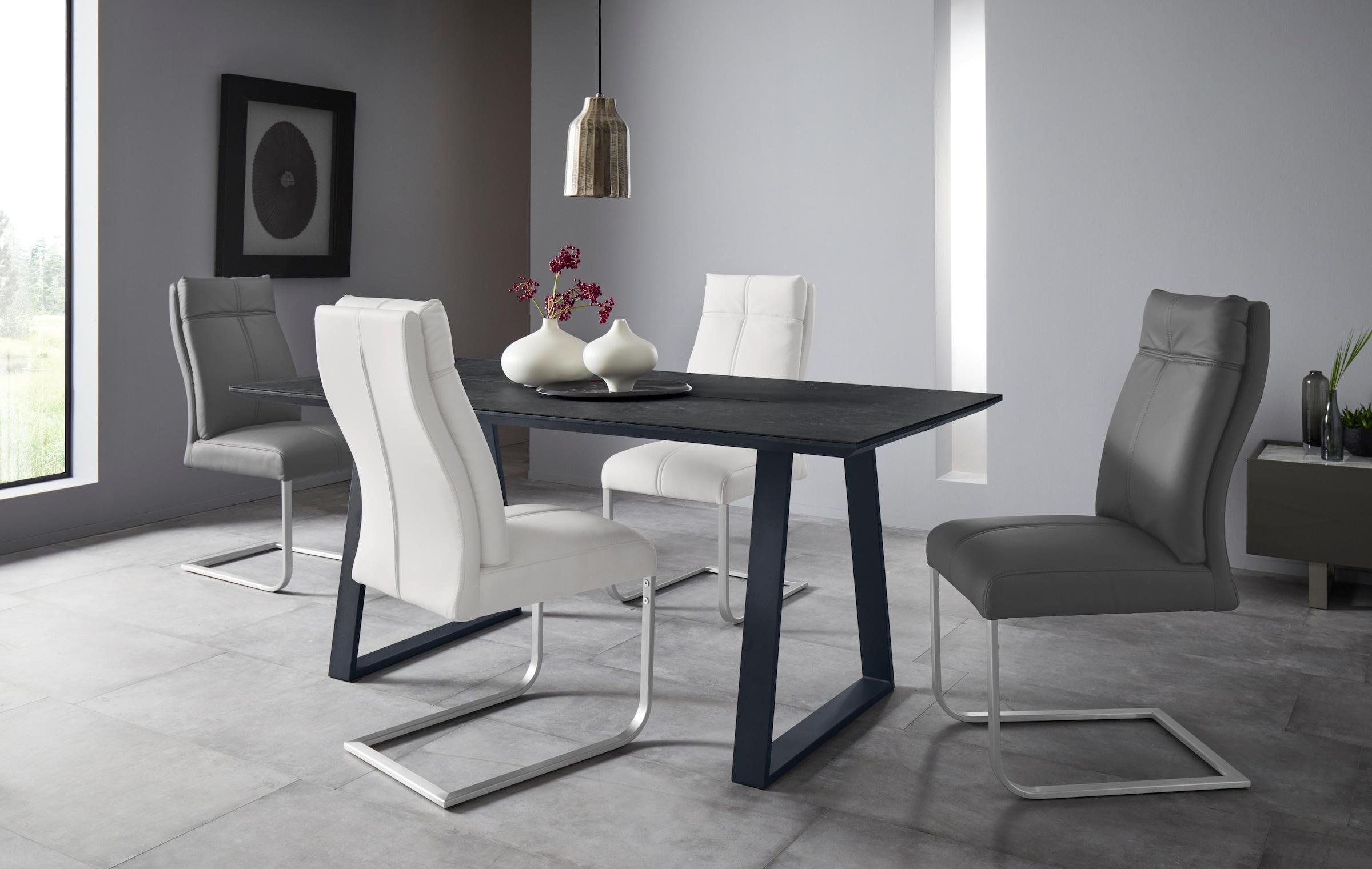 Places of Style Esszimmerstuhl Luanda 2er Set, in zwei verschiedenen Bezugsvarianten, Sitzhöhe 49 cm