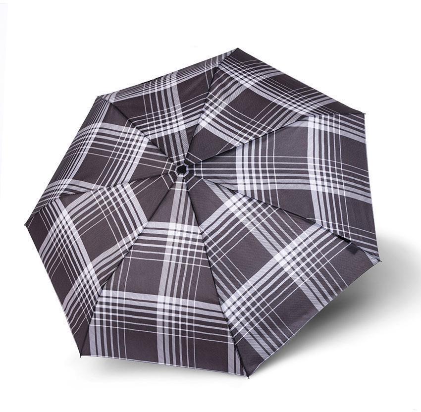 Bugatti Regenschirm - Taschenschirm, »Buddy Duo, Check« | Accessoires > Regenschirme > Taschenschirme | Grau | BUGATTI