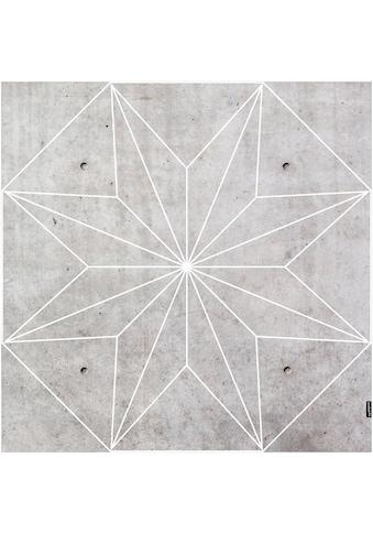 MYSPOTTI Packung: Vinylbodenmatte »Concrete Star«, eckig, wasserfest und statisch haftend kaufen