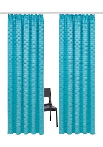 Vorhang, »Peacock«, my home Selection, Kräuselband 2 Stück kaufen
