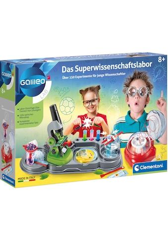 Clementoni® Experimentierkasten »Galileo Das Superwissenschaftslabor«, Made in Europe kaufen