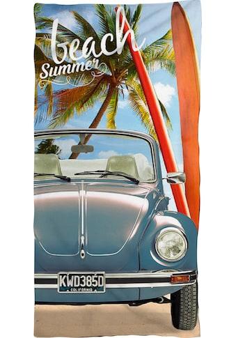 Volkswagen Strandtuch »Beach Summer«, (1 St.), mit Käfer kaufen