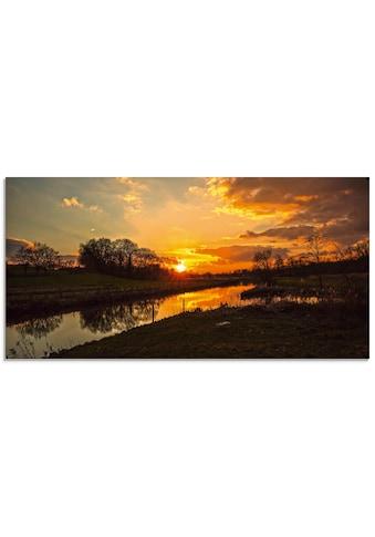 Artland Glasbild »Sonnenuntergang an der Trave« kaufen