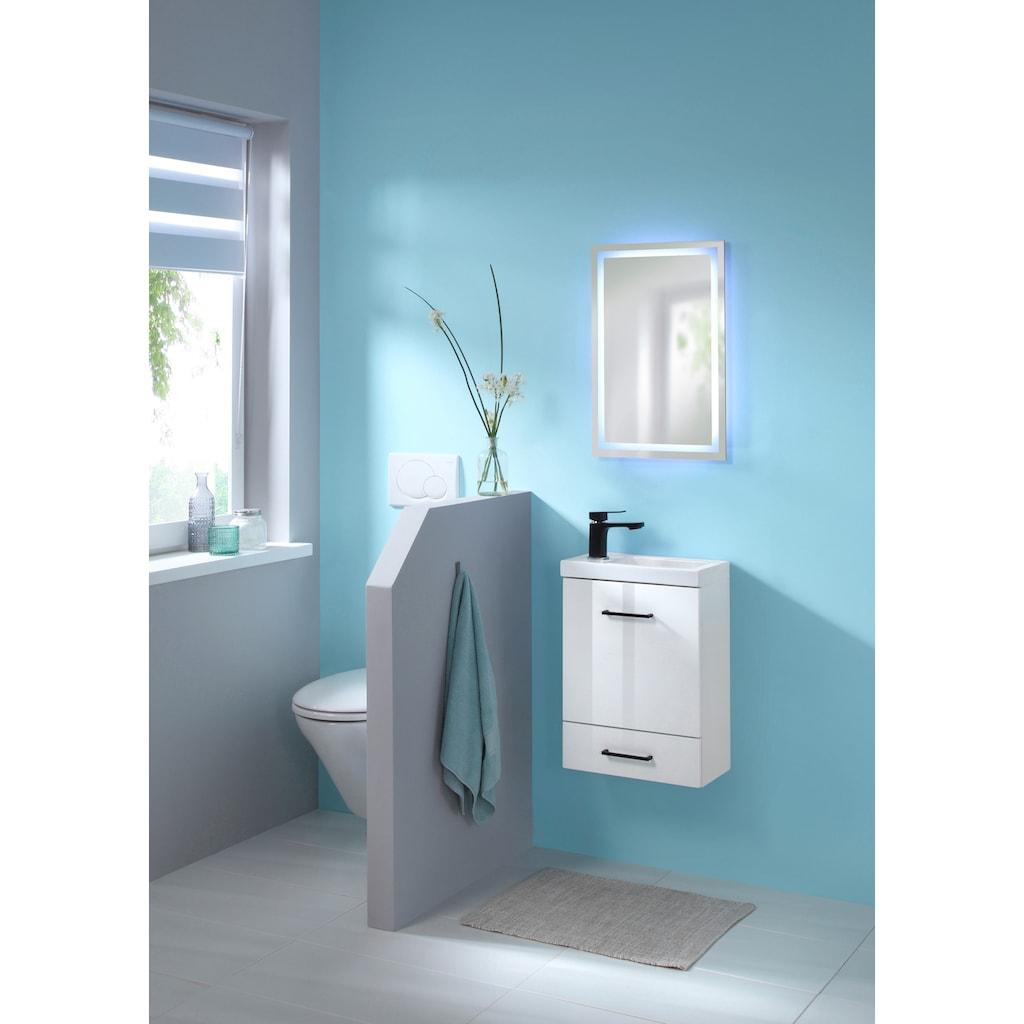WELLTIME Badspiegel »Trento«, LED-Spiegel, 40 x 60 cm