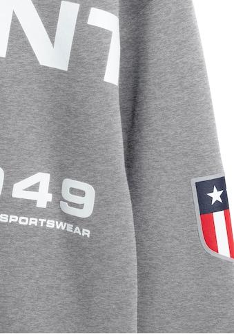 Gant Kapuzensweatshirt, mit tollem Retro-Shield Logo-Print kaufen