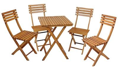 Garden Pleasure Gartenmöbelset »ALAMEDA«, (Set, 5 tlg.), für den Balkon geeignet kaufen