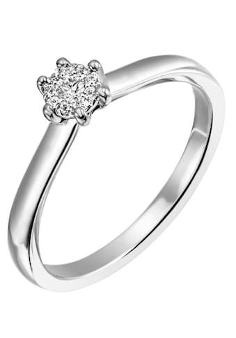 Firetti Diamantring »Verlobung, ca. 2,40 mm breit, mit Krappenfsassung, glänzend, massiv«, mit Brillanten kaufen