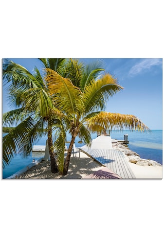 Artland Glasbild »Florida Keys Himmlischer Blick«, Strand, (1 St.) kaufen