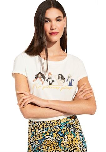 Comma Rundhalsshirt kaufen