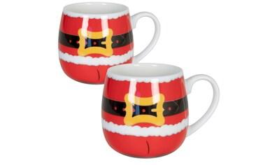 Könitz Becher »Santa Claus is coming«, (Set, 2 tlg.), handdekoriert, 2-teilig kaufen