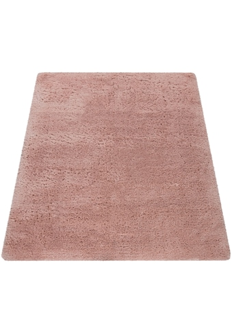 Paco Home Hochflor-Teppich »Wanda 245«, rechteckig, 40 mm Höhe, Uni-Farben, Wohnzimmer kaufen