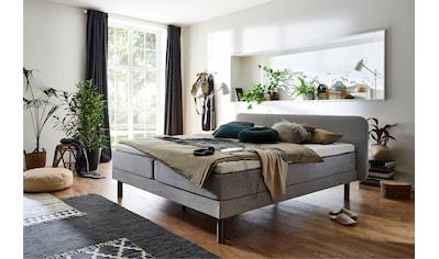 ATLANTIC home collection Boxspringbett, mit 7-Zonen-Taschen-Federkernmatratze und Latex-Topper kaufen